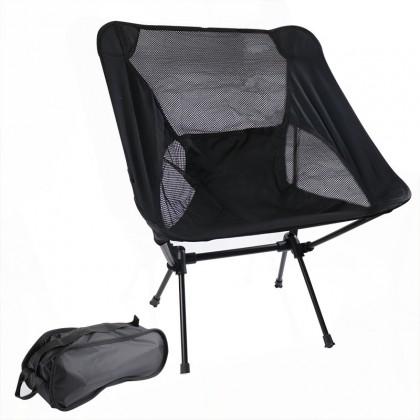Outdoor folding beach chair portable light moon space chair aviation aluminum tube lazy fishing chair