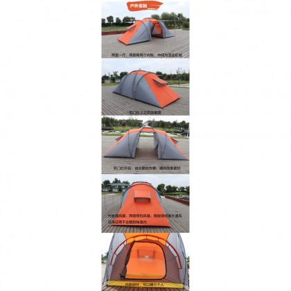 Cross Border Two Room 8 Person Camping Tent