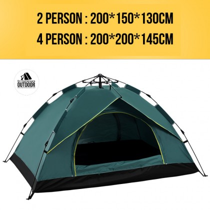 Single Layer Tent For 3-4 Person